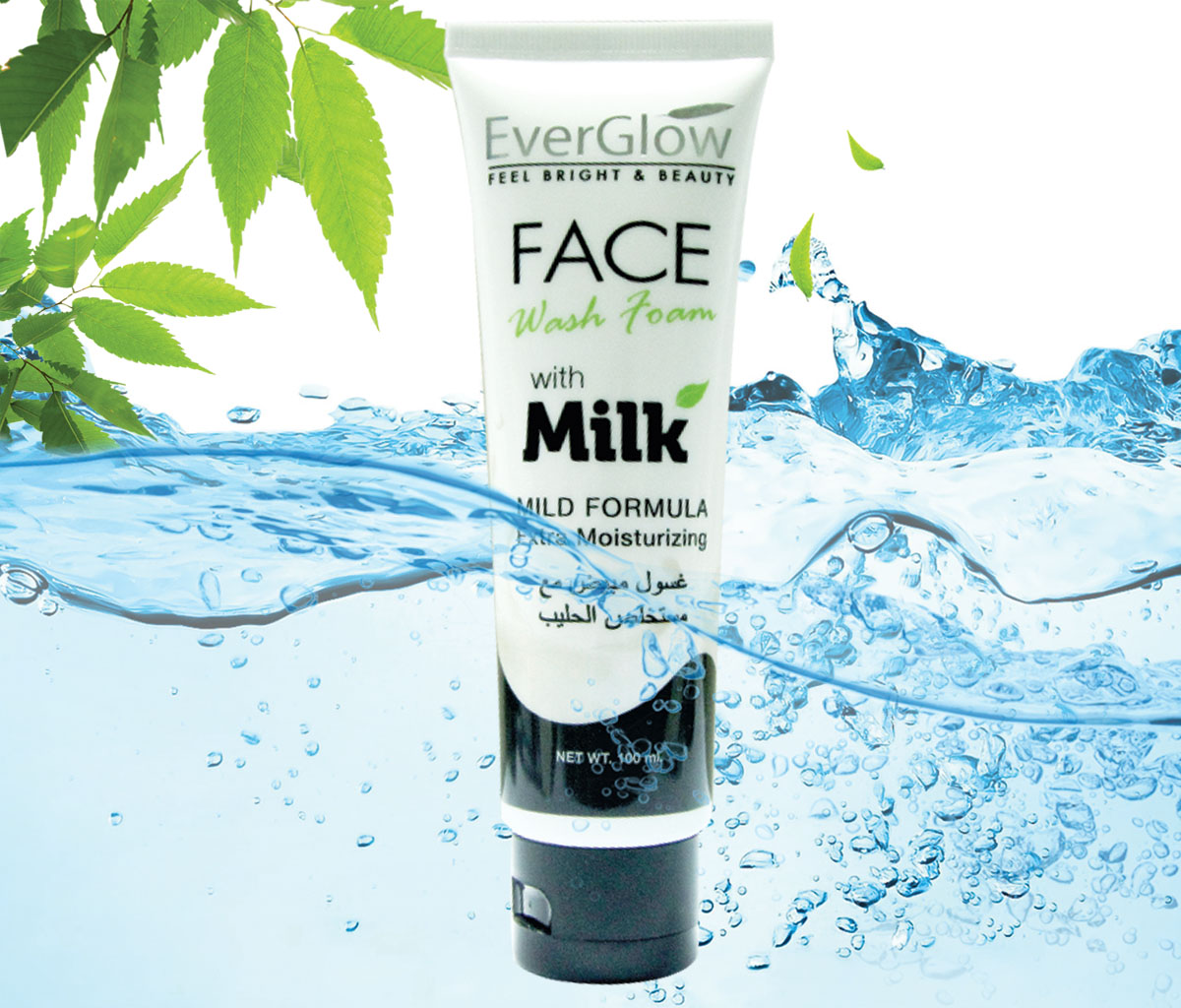 EVERGLOW FACE WASH MILK EXTRACT 100ML
